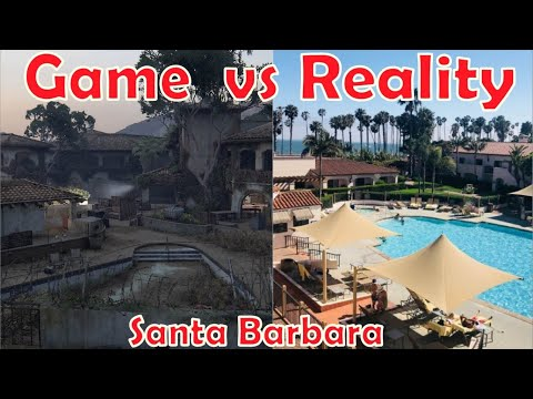 Game vs Reality Side by Side Santa Barbara - THE LAST OF US 2