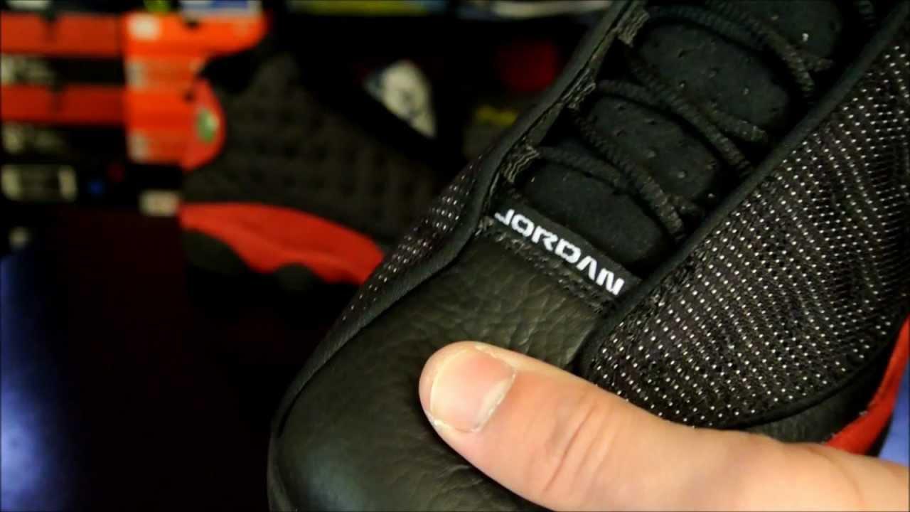 buy online afab3 ed35c Air Jordan XIII (13) Retro Black  Varsity Red 2013 - YouTube