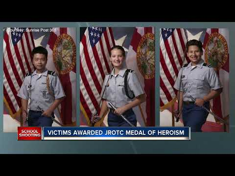 Three students killed in Florida school shooting awarded Medal of Heroism from U.S. Army