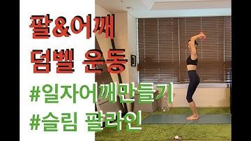 팔&어깨 덤벨운동(arm&shoulder dumbbell workout) - 강하나 다이어트(2019.04)