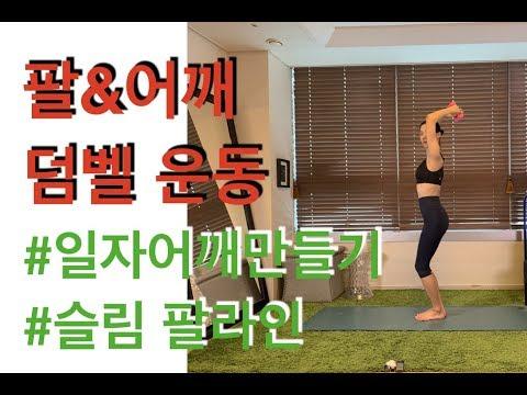 강하나 다이어트(2019.04) - 팔&어깨 덤벨운동(arm&shoulder dumbbell workout)