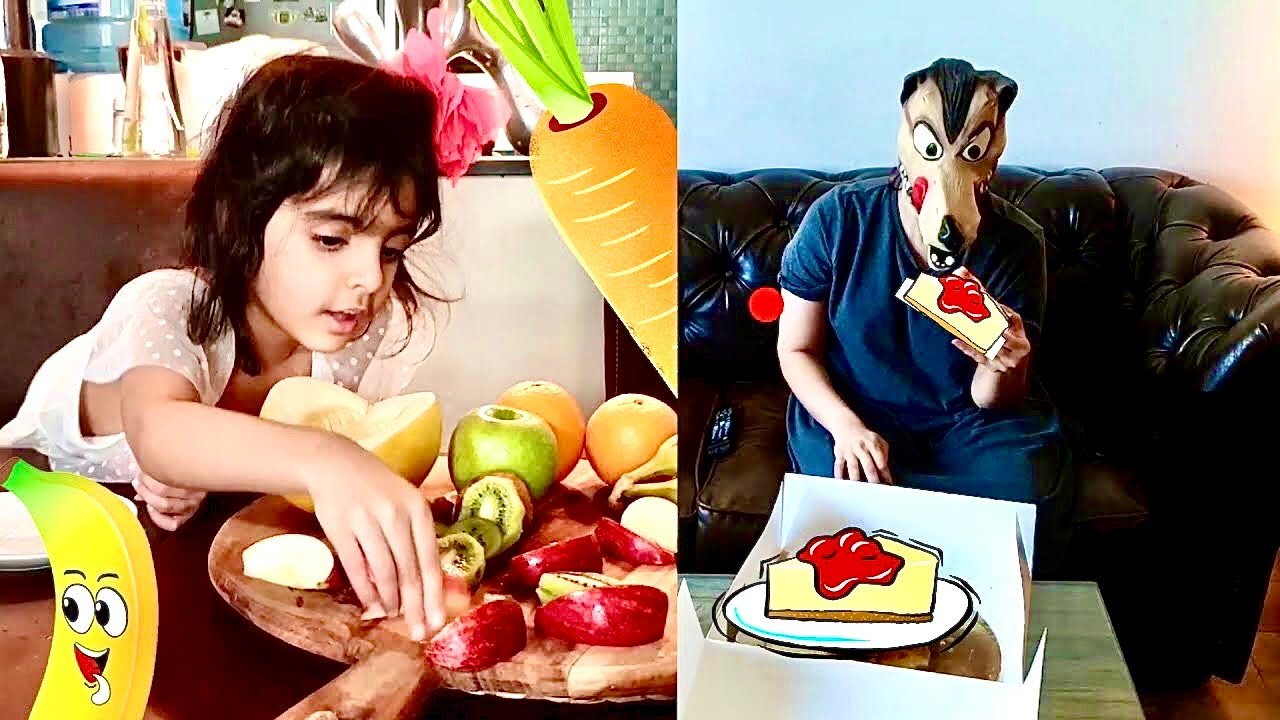 Dua teaches Wolf to eat healthy food and exercise (funny kids story)