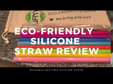Product Review// Reusable Eco-Friendly Silicone Drinking Straws | Rebranding Me