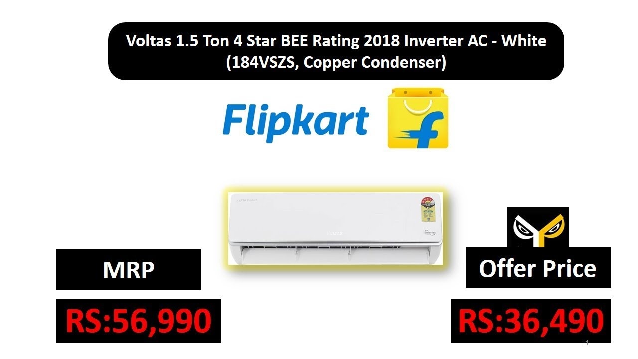 1eaaaf3371d Voltas 1.5 Ton 4 Star BEE Rating 2018 Inverter AC - White (184VSZS ...