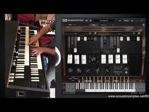 B5 Organ V3  vs real Hammond organ and Leslie 122