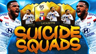 INSANE IF LACAZETTE SUICIDE SQUADS!!! FIFA 16 ULTIMATE TEAM