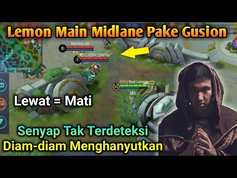 Lemon Main Midlane Pake Gusion, Diam Senyap Tak Terdeteksi [Mobile Legend]