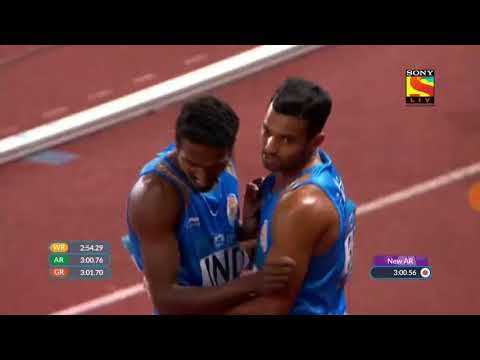 India win silver medal in 4*400m relay in Asian games