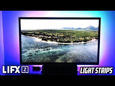 LIFX Z Experience Light Strips Setup/Impressions! (MAKE ANYTHING LOOK AWESOME!)