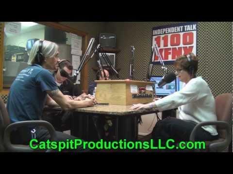 Catspit Custom Screen Printing on KFNX Radio Phoenix