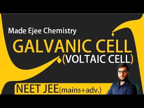 (L-11)Galvanic(Voltaic cells).Constructions,cell equations,working & Concept of Salt bridge