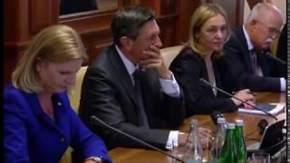 Зустріч Президента України Петра Порошенка з Президентом Республіки Словенія Борутом Пахором