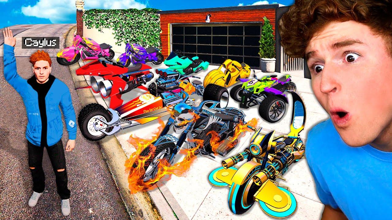 Collecting RARE TRILLIONAIRE BIKES In GTA 5! (Mods)