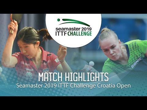 Jiayi Sun Vs Ganna Gaponova   2019 ITTF Challenge Croatia Open (R32)