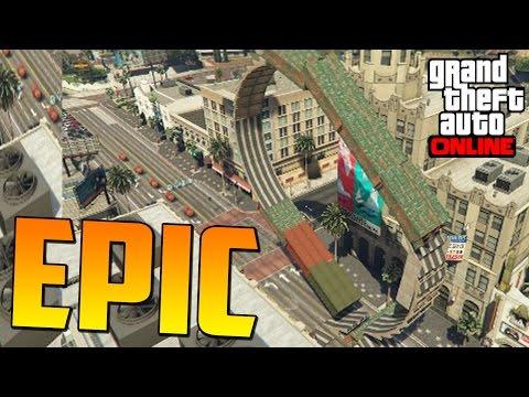 MEGA ÉPICO! NOSE COMO LO HE HECHO!! - Gameplay GTA 5 Online Funny Moments (Carrera GTA V PS4)