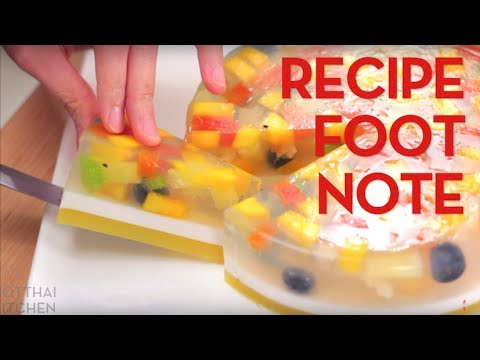 Recipe Footnote Agar Agar Fruit Cake Hot Thai Kitchen Youtube