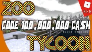 ROBLOX-HOW TO GET TOO RICH FAST AT ⟪ ZOO T YRACCOON CODE ⟫