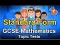 AQA GCSE Maths Topic Test - Standard Form
