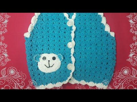 Hướng dẫn móc áo giles cho bé trai. PHẦN5-Guide crochet baby