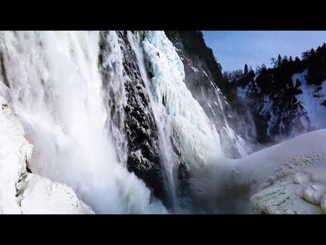 Notre trip d'escalade de glace à la chute Montmorency à Québec!