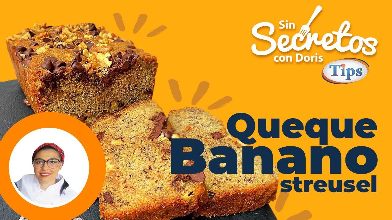Queque de Banano con Streusel