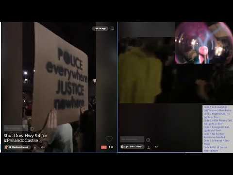 LIVE!! Protestors Take Over Highway In St. Paul #PhilandoCastile Police Scanner, Protest Link