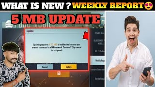 New 5 MB Update In Pubg Mobile | What's New? Explain In Hindi | Weekly Report