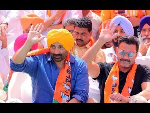 BJP candidate Sunny Deol holds a roadshow in Gurdaspur