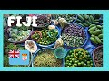 FIJI, EXPLORING the busy fruit, produce, flower & food stalls of the MARKET in SUVA