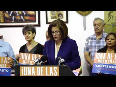 Catherine Cortez Masto's Comments in Response to Heck Operatives' Racist Remarks