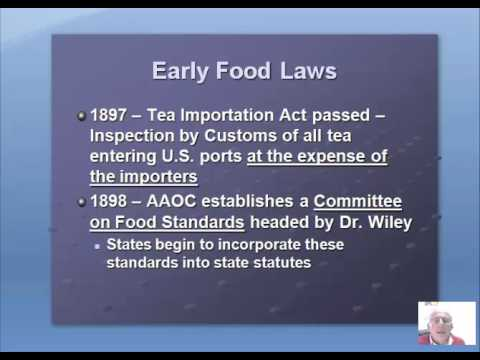 History of Food Law Video 2016
