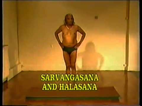 BKS Iyengar Teaching Yoga asana class London 1985 part2 of 2 (Clip 2 of 3)