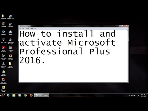 How to install and activate Microsoft Office ProPlus 2016