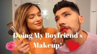 doing my boyfriends makeup ft josh leyva chachi gonzales