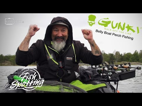 Gunki TV - Belly Boat Perch Fishing in Sweden - Fish Spotting (French Subtitles)