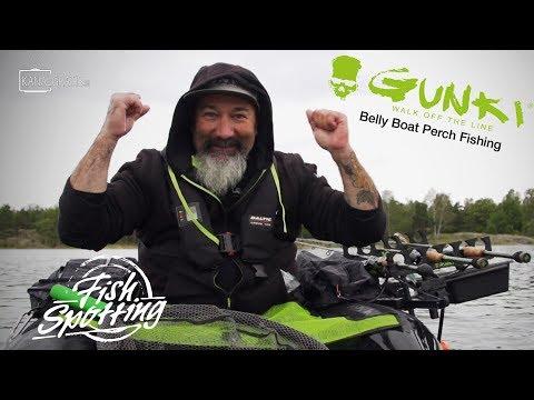 Gunki TV - Belly Boat Perch Fishing In Sweden - Fish Spotting (French Subtitles)