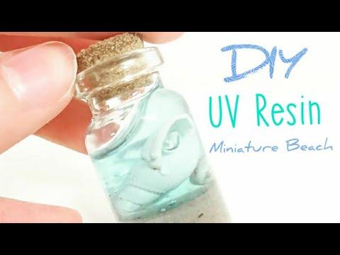 UV Resin Crafts- Charm/Necklace jewelry making I Summer Crafts- Miniature Beach in a Bottle