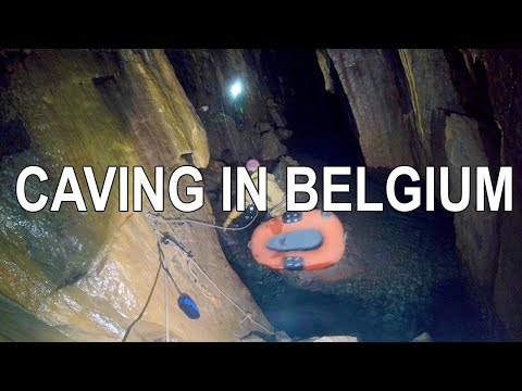 Caving in the Wallonia Region of Belgium