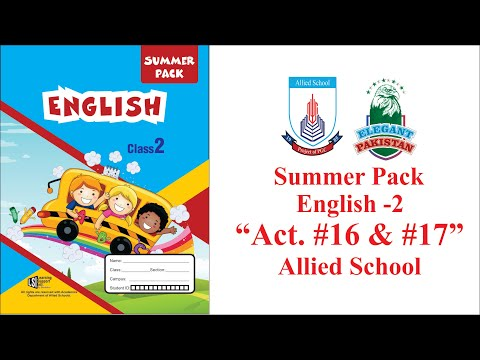 class-two-english-summer-pack-activity-16-and-17