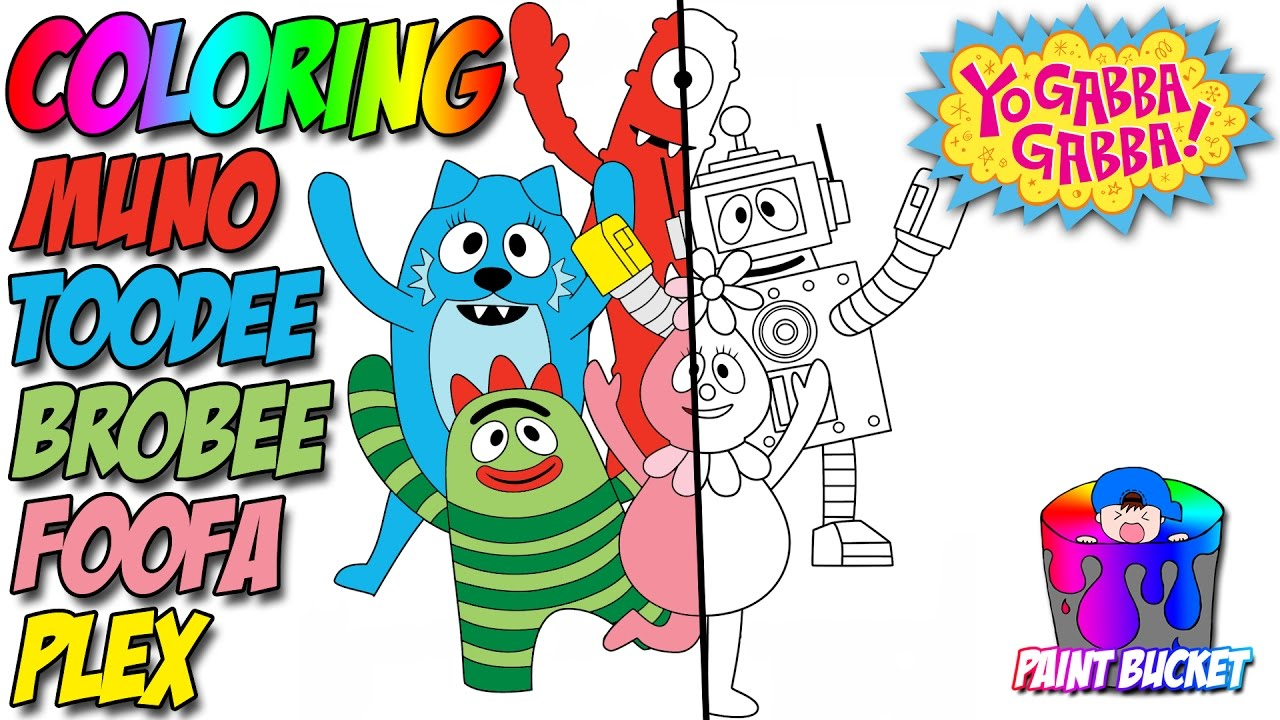 Yo Gabba Gabba! Coloring Pages - Nickelodeon Nick Jr. Coloring ...