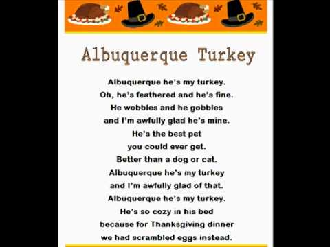 Albuquerque Turkey song and lyrics from KIDiddles