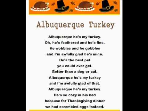 Turkey time song lyrics