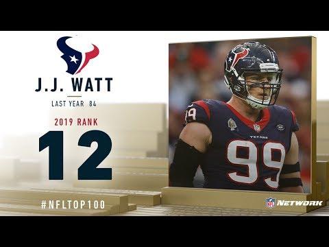 #12: J.J. Watt (DE, Texans) | Top 100 Players Of 2019 | NFL