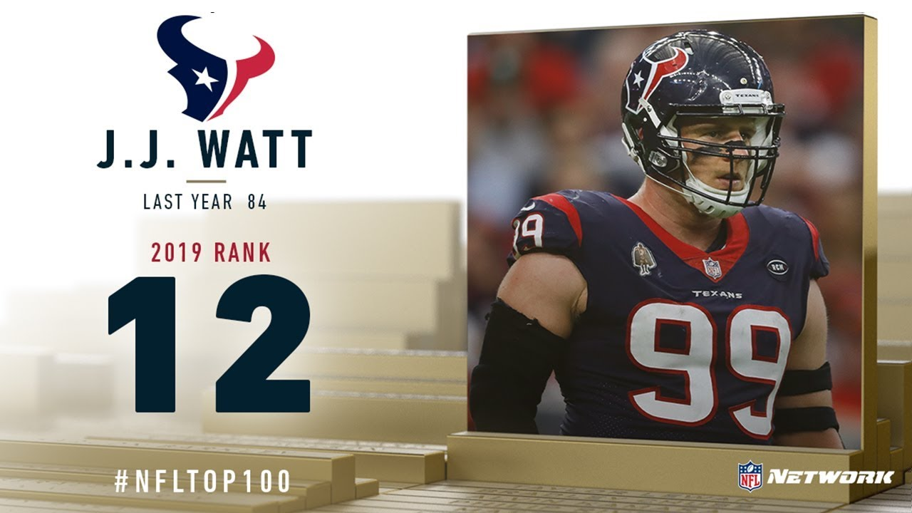 #12: J.J. Watt (DE, Texans) | Top 100 Players of 2019 | NFL