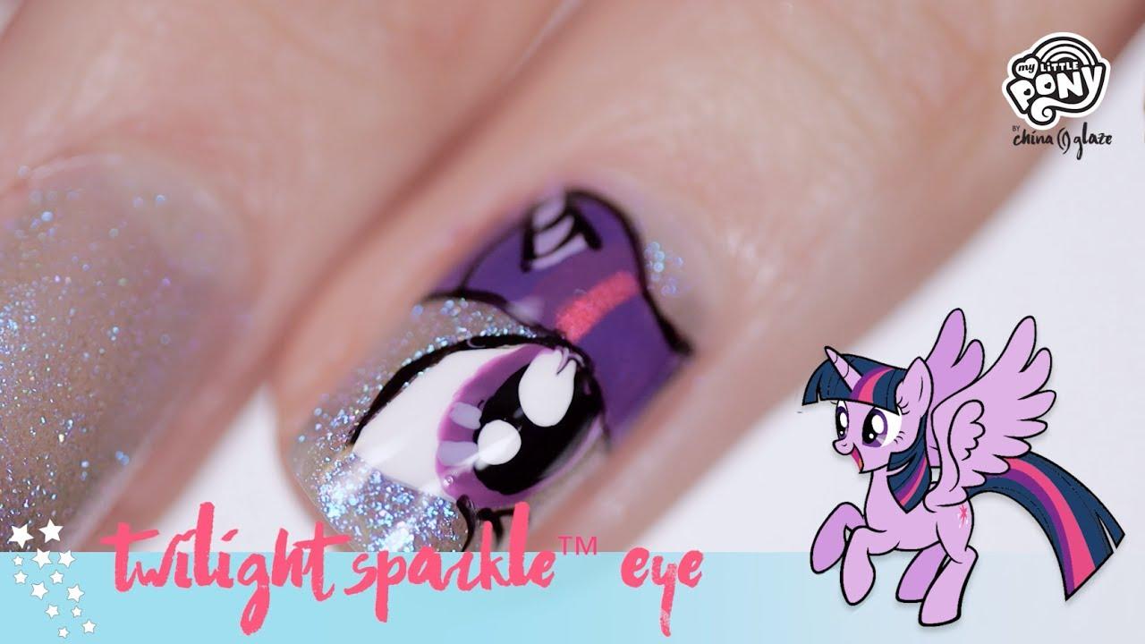 My Little Pony Nail Art Twilight Sparkle Eye Youtube