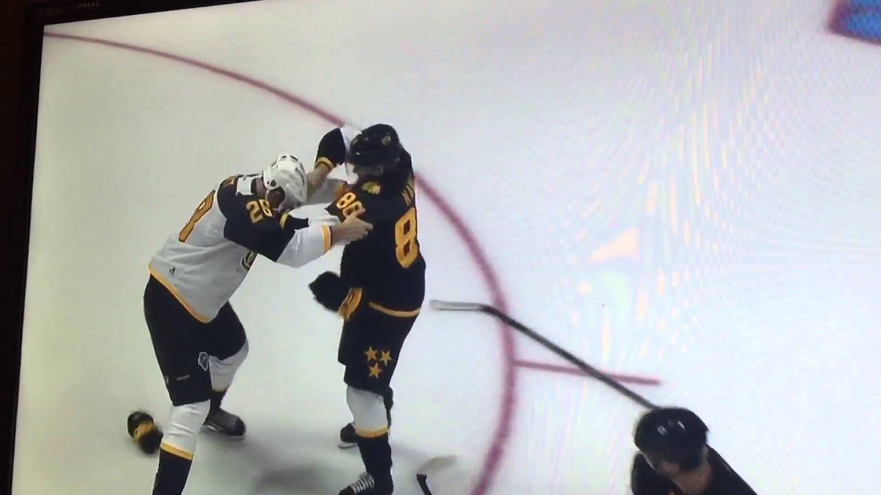 Patrick Kane scores   drops gloves against John Scott in 2016 NHL All-Star  Game HD  e4eedc2b0