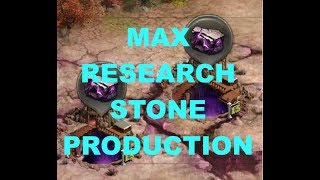 Clash Of Kings MAX Research Stone Production