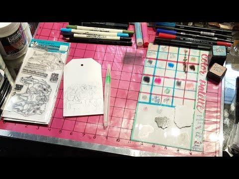 DIY Tim Holtz Media Glass Mat Part 4 - MY ALL TIME FAVORITE DIY I'VE EVER MADE! MY FAV VIDEO TOO!!!!