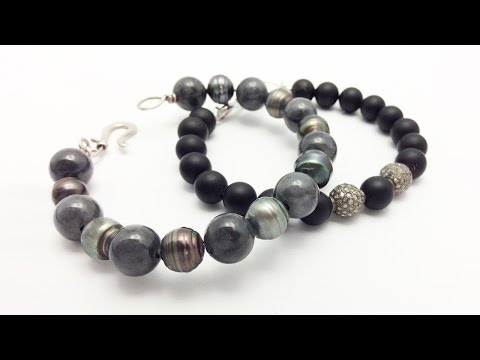 How to Make Beaded Bracelets with Sterling Silver Wire Easy - Jewelry Making and Design Ideas