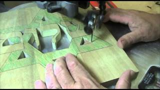 """shalom Star Carving""  Part 6 Of 11  Cutting The Outline With A Scroll Saw"
